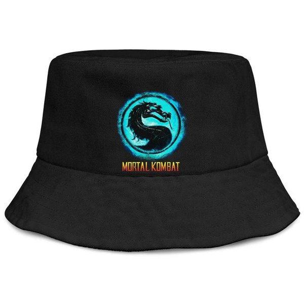 Womens Mens Plain Adjustable Mortal Kombat logo cool Rock Punk Cotton Baseball Hat Golf Flat Top Hat Airy Mesh Hats For Men Women