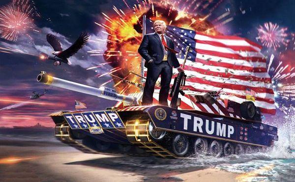 100pcs America Donald Trump rettangolo bandiere poliestere USA Presidente Election Banner US Independence Day 2020 bandiere vendita calda