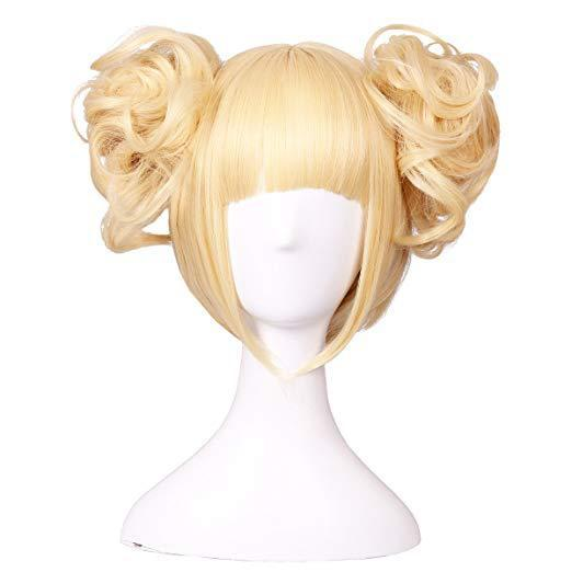 fashion women's cosplay hairpieces synthetic wigs hair wigs Double buns hairpieces short straight hairpiece