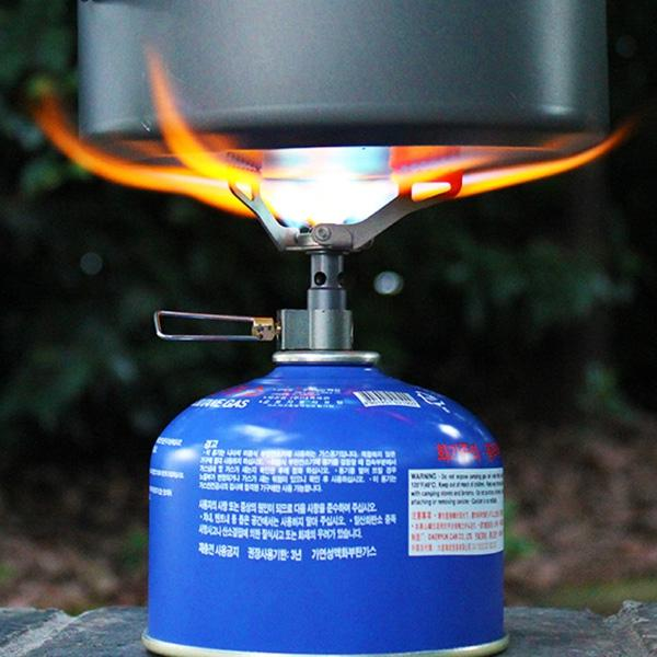 Portable Folding Mini Camping Oven Gas Stove Survival Furnace Stove 25g 2700W Titanium Alloy Pocket Picnic Cooking Gas Burner Cooker