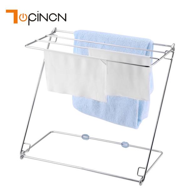 Multifunctional Stainless Steel Kitchen Cabinet Organizer Sink Sponge Holder Drain Storage Shelf With Foldable 4 Layers