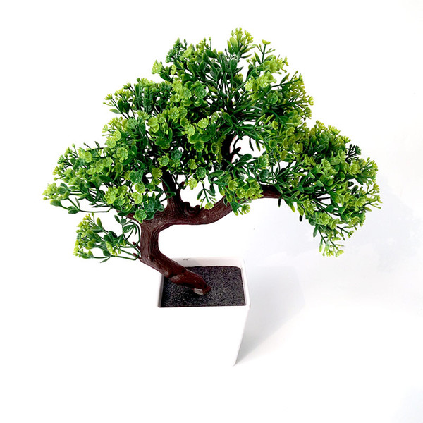 Искусственные пластиковые растения в горшках Интерьер стола декоративные Ложные растения в горшках из сосны