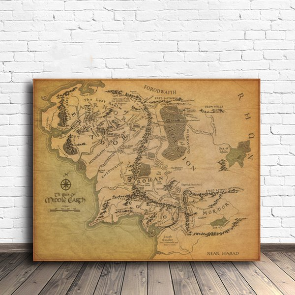 Game of Thrones Maps Vintage Canvas Painting on the Wall Picture Poster And Print Decorative Home Decor