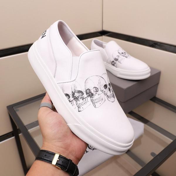 Новые дизайнерские туфли для мужчин моды платформы кроссовок тройной черной белой кожи замша мужских удобные плоские случайные обуви