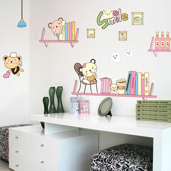 Acquista Camera Da Letto Bambini TV Sfondo Orso Adesivo Autoadesivo Colore  Confetteria Sticke Parete Rimovibile A $6.54 Dal Moon113   DHgate.Com