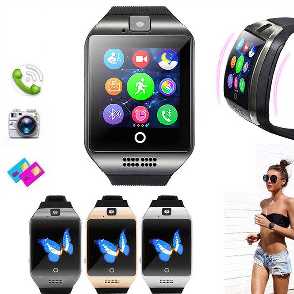 top popular Smart Watch With Camera Q18 Bluetooth Smartwatch support SIM TF Card Fitness Activity Tracker Sport Watch For Android 2020