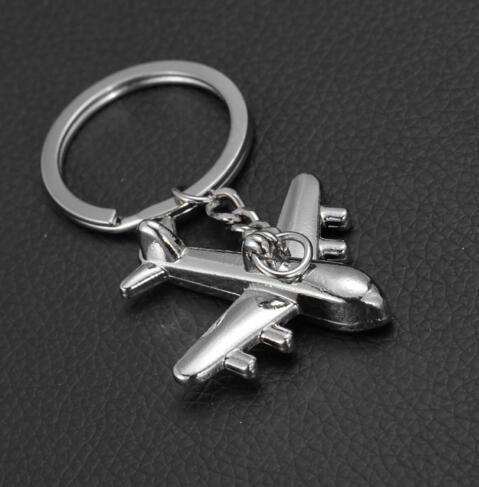 Zinc Alloy Keychains Holder New Plane Keychain Mini Plane Model Key Ring for Men Key Holder Key Chain Charms Airplane Keyring