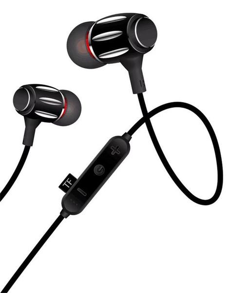 Geräuschunterdrückung Bluetooth-Headset-Magnete Verbindung Kopfhörer Mikrofon Drahtlose Kopfhörer Wechseln der Songs Lautstärke Kopfhörer