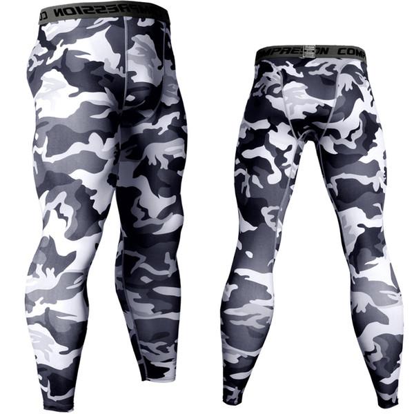 Joggeurs Pour Hommes Collants De Compression Pantalons 3D Hommes Camouflage Armée Jambières Maigres Crossfit MMA Gymnases Fitness Workout Camo Pants