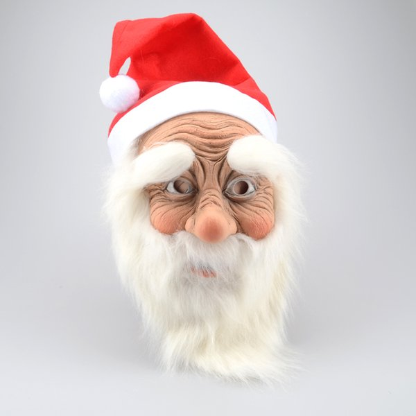 Funny Super Soft The Santa Claus Mask Wig Beard Costume Christmas Party Holiday Supply Nl121 Q190524