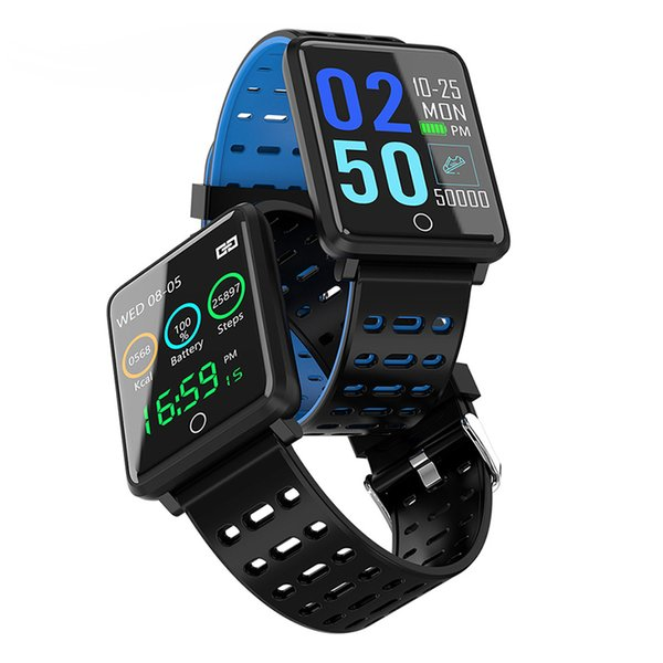 F3 Smart Bracelet Color Screen Heart Rate Monitor Boold Pressure pedometer waterproof fitness tracker Sports band For Android iOS