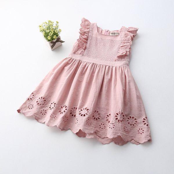 Summer Baby Girl Dress Ruffles Sleeveless Princess Dress Vestiti per bambini Bambini Abbigliamento casual per bambini Vest Vest 14428