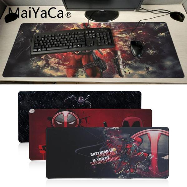 MaiYaCa Red Deadpool mouse pad su misura di gioco portatile GRANDE pad in gomma Mouse Game