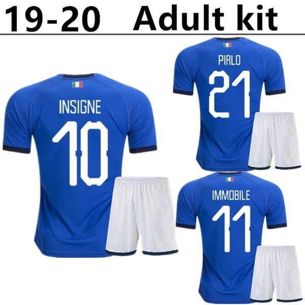Maillot de football pour kit adulte 2019 2020 CHIELLINI INSIGNE maillot de football italie INSIGNE Camiseta de futbol BERNARDESCHI TOTTI IMMOBILE maillot de