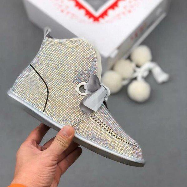 Kar botları, bir 2019 yeni moda yapay elmas, ilmek, patinaj botlar, pamuk ayakkabı, kadın kış Peluş kadınların kürk