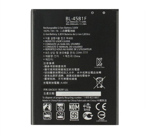 1x 3200mAh BL-45B1F / BL45B1F Сменный аккумулятор для LG V10 H968 H961N H900 H901 VS990 F600 F600L F600K H960A LS992