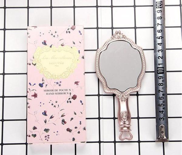 LADUREE Les Merveilleuses MÃO ESPELHO N cosméticos Maquiagem espelho Compact Vintage titular plástico compõem espelho de bolso