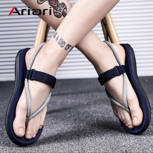 Women's Flip Flops Fashion Beach Sandals Flats Platform Slippers Flip Flops Female Korean Style Slippers Footwear Size 36-45