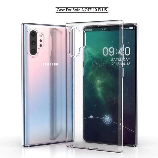 Para Samsung NOTE10 PRO 0.8MM Thick Ultathin Clear Soft TPU Funda Para Note 10 Gel Cubierta de goma de silicona