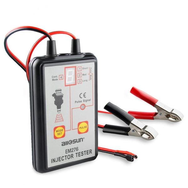 OBD2 testeur d'injecteur de carburant EM276 pompe analyseur système avec 4 modes Pulse EM 276 Injector jauge de pression