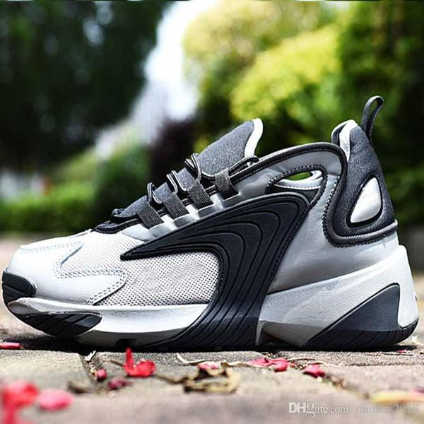 Satış 2018 2017 runningshoes Klasik üreme ayakkabı ZOOM yastıklama 2 K retro Erkekler Kadınlar Altın açık havada spor nefes rahat ayakkabılar