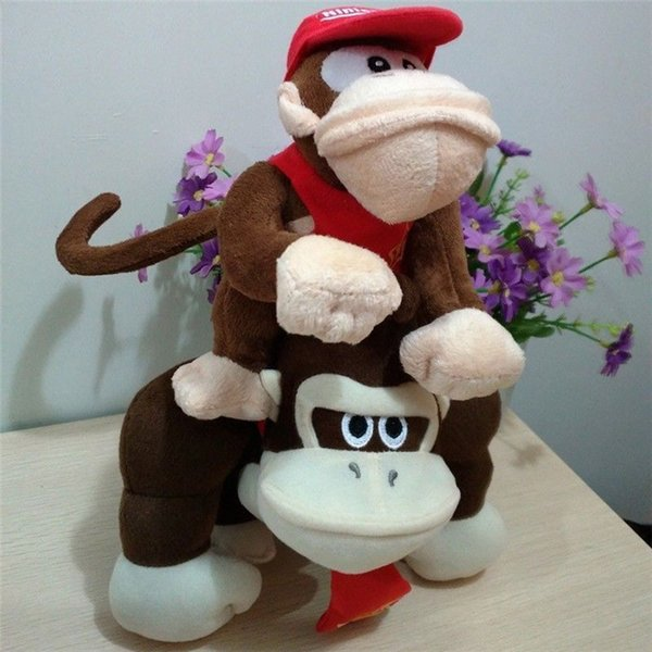 2Pcs Super Mario Bros Plush Toy Donkey And Diddy Kong Stuffed Animal Doll Toy gift New