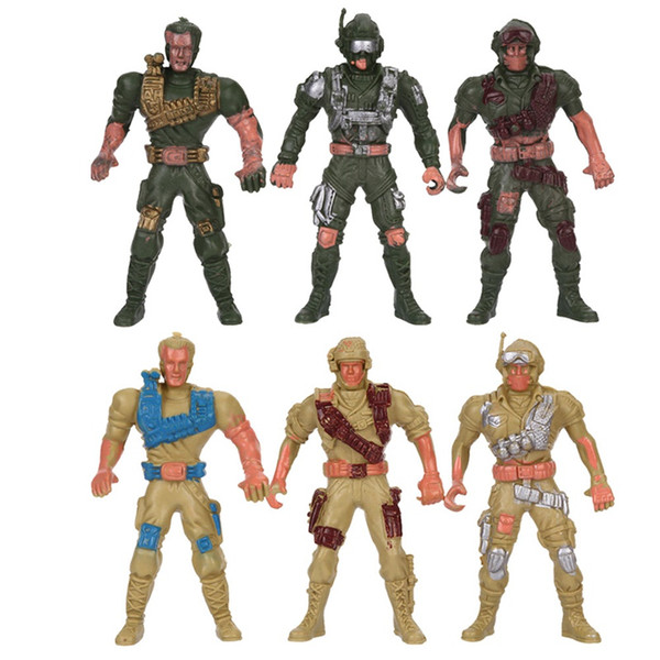 Military Playset Special Force Action Figures Kids Toys Plastic Toy 9cm Soldier Men - Style Random 3pcs/set
