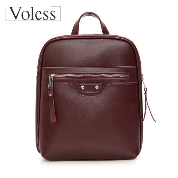 Большие емкости Рюкзаки для женщин 2019 Качества Женского кожаного Bagpack Урожая Леди сумки Back Pack Sac A Dos Mochila Feminina