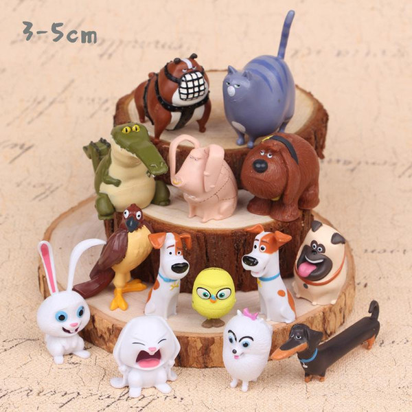 14ps Pet love animals doll Action Figure Toy long ear rabbit model DOLL GIFT FOR KIDS birthday gift Cake decoration family Ornament