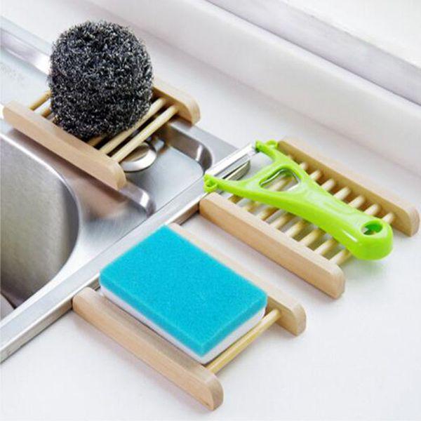 Criativa de madeira Banheiro Saboneteira sabão artesanal caixas de madeira Dish Dish Soap de madeira como Soapbox Suporte para banho Acessórios DHL