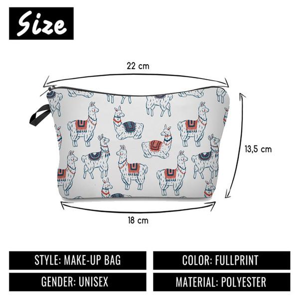 Сумка для макияжа с цифровой печатью альпака, женская сумка, многофункциональная сумка для хранения