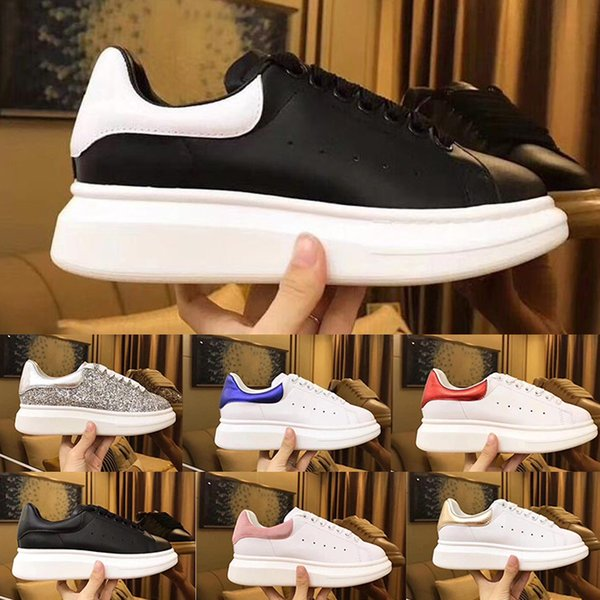 2019 Queen Shoes Luxury Desinger Donna Uomo Scarpe casual Leisure Dress Shoes Leather Wedding Daily Sneaker Size 35-45