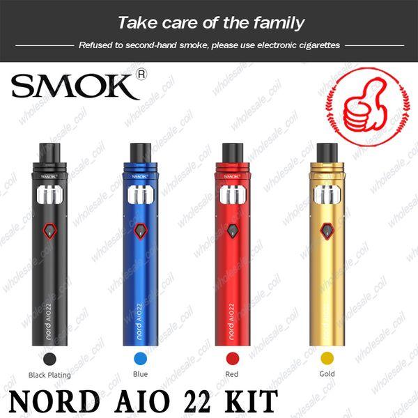 100% Original SMOK Vape Pen 22 Kit Buit In 1650mAh Battery Top Cap