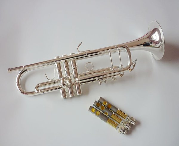 Vincent Bach Professional Bb Trumpet TR-500S Silver Plated Musical Instrument Professional Trumpet TR500S With Case Mouthpiece