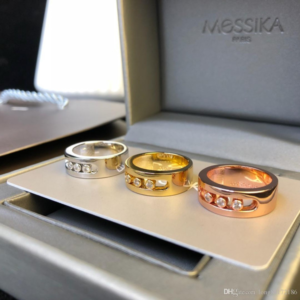 Designer Rings Move Series Diamond Sliding Rings 2019 Luxury Fashion Accessories Paris Independent Designer Jewelry Mobile Diamonds
