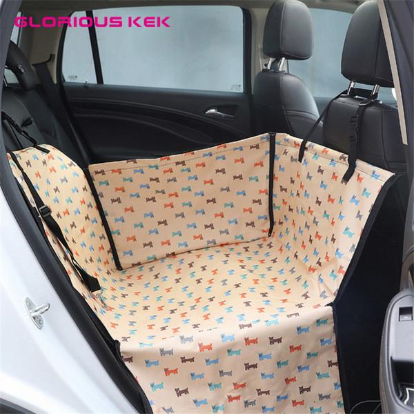GLORIOUS KEK Dog Car Seat Covers Strong Waterproof Pet Car Seat Hammock for Small Medium Dogs Pet Mat Protector Dropshipping