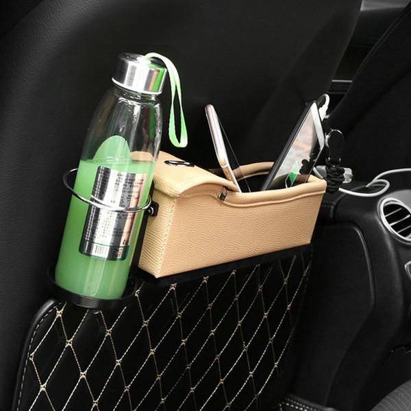 Siège d'auto Crevasse Boîte de rangement Coupe Drink Holder Organisateur Gap Auto Pocket tidying pour téléphone Carte-monnaie Accessoires