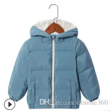 2019 New Boys piumino parka invernali di spessore per bambini ragazzi di modo dei bambini del rivestimento Trench Coat 100-140cm di vendita al dettaglio