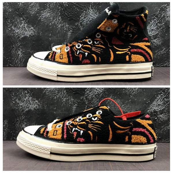 UNDEFEATED x CHUCK 70 HI Leopard tiger 70s ox All Casual Canvas Shoes 1970s Mens Trainers Sports Star Womens Designer Sneakers