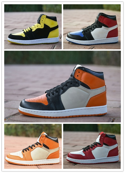 2019 New High 1 OG MID X Travis Scotts Basketball Shoes Turbo Green Origin Story Gs Banned NRG Union Retroes 1s White Blue Low AIR160