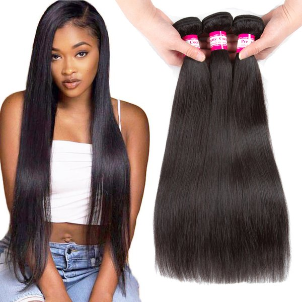 Wholesale Brazilian Straight Hair Bundles Unprocessed Virgin Human Hair Weave Natural Color 3 4 5pcs Body Wave Hair Extensions Dyeable