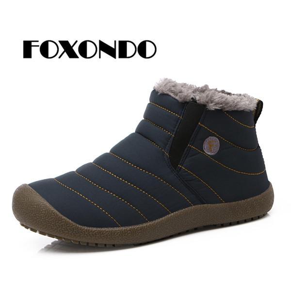 FOXONDO 2018 Winter Women Snow Boots warme Fellplüsch-Regenstiefel Mid-Calf Knöchelfrauen rutschen auf wasserdichtem Gummi 6811