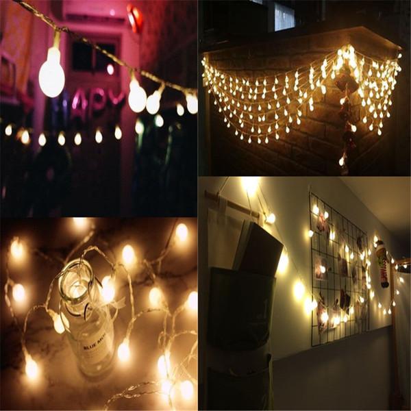 Luminaria 1.5х 3е 20 Led черри шары Fairy гирлянды Батареек Свадьба Рождество Открытый Патио Гирлянда украшение