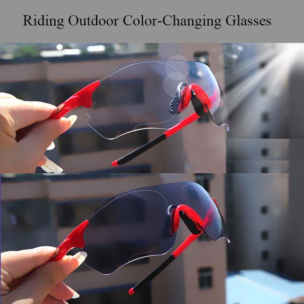 Profession Photochromic bike Glasses Sports Cycling Glasses Mountain Bike Cycling Goggles Sunglasses UV400 Eyewear 3Lens