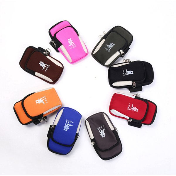 Arm Packs Outdoor Sport Running Arms Belt Cover Smart Phone Bag Camping Equipment 9 Colors ZZA1037