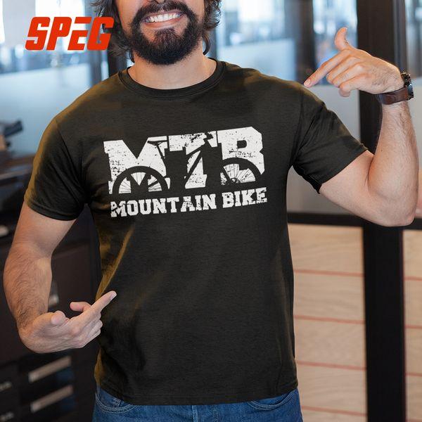 Vélo De Montagne Vintage VTT En Difficulté Conception T Shirts 100% Coton Tees À Manches Courtes Hommes Vintage Col Rond T-shirt Date