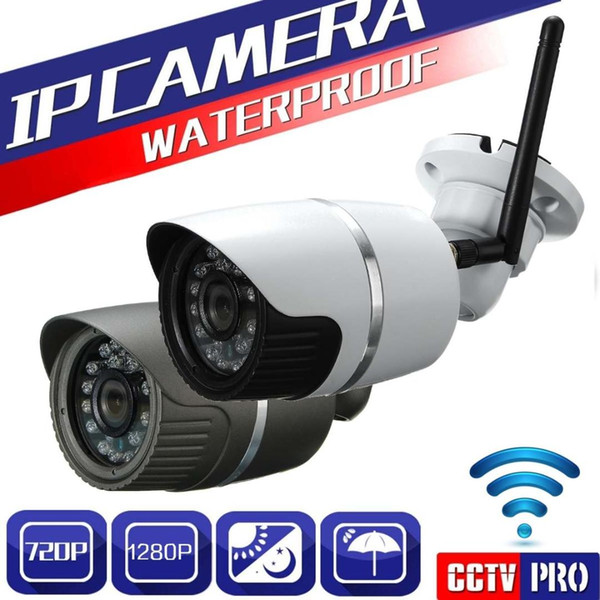 1280 x 720P 3.6mm Wifi CCTV Digital Video Camera Outdoor Security Waterproof HD 2 Color Closed Circuit Television