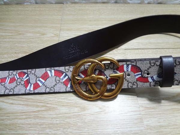 Venda QUENTE cobra Designer bcukle Cintos Cinto De Alta Qualidade Para Homens E Mulheres Cinto De Couro Genuíno para o presente 8688