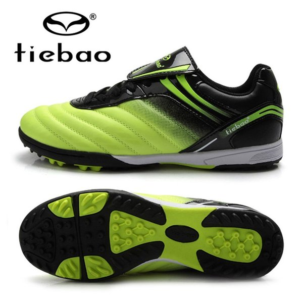 Tiebao professionelle kinder kinder turnschuhe outdoor sport fußballschuhe tf turf gummisohlen jungen mädchen fußballschuhe eu 30-38