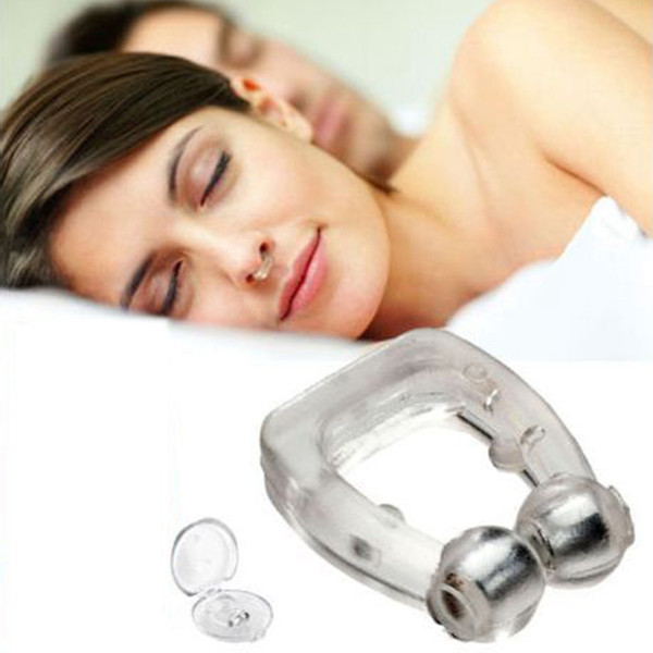 Snoring Cessation Silicone Magnetic Anti Snore Stop Snoring Nose Clip Sleep Tray Sleeping Guard Night Device with Case 600PCS AAA1844